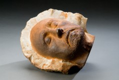 See Without Fear wood-fired ceramic, slip sculpture by Tony Moore