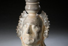 Jester - wood-fired porcelain by Tony Moore