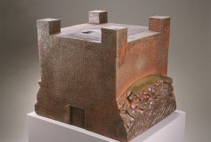 In Our Name wood-fired ceramic sculpture by Tony Moore