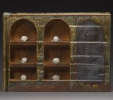 Collector's Cabinet 2016, 16x21.75x6in, ceramic, porcelain, glass - Tony Moore