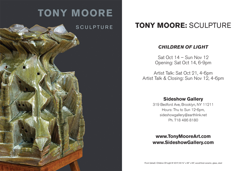 Tony Moore Solo exhibition in Brooklyn, NY